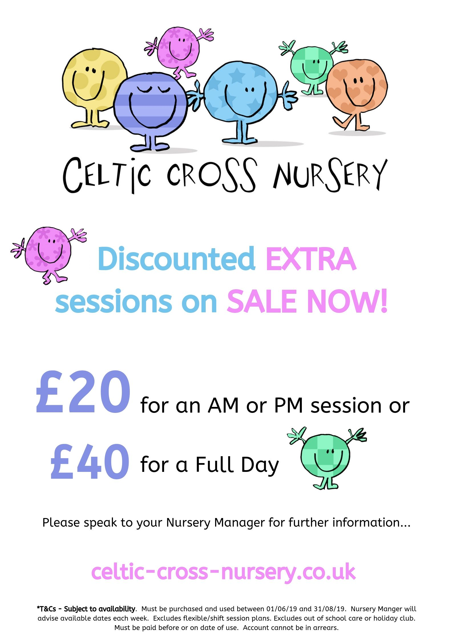 Discounted sessions Celtic Cross nursery